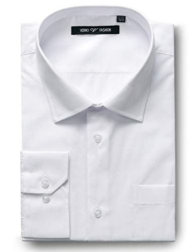 Verno Luxton MensRegular Fit Long Sleeve Dress Shirt, 19-19 1/2