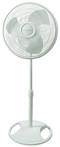 Lasko 2520 16″ Oscillating Stand Fan - Features Adjustable Height