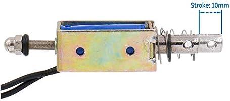 A● 1Pcs JF-0530B DC12V 10mm 5N Push Type Open Frame Actuator