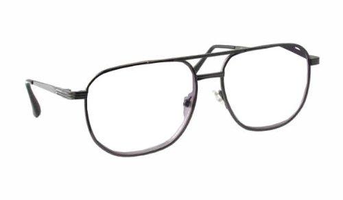 Calabria 1106 Metal Aviator Reading Glasses in Gun-Metal or Gold