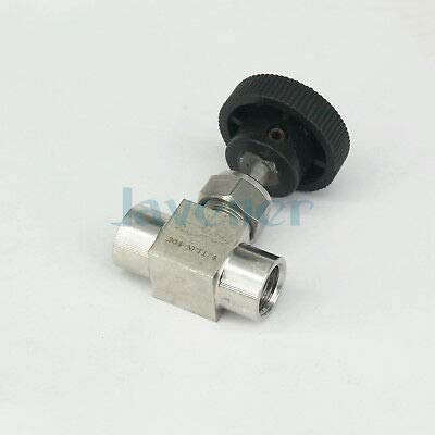 FidgetKute 1//8 1//4 1//2 NPT Female Needle Valve 304 Stainless Steel Flow Control 1//2 NPT One Size