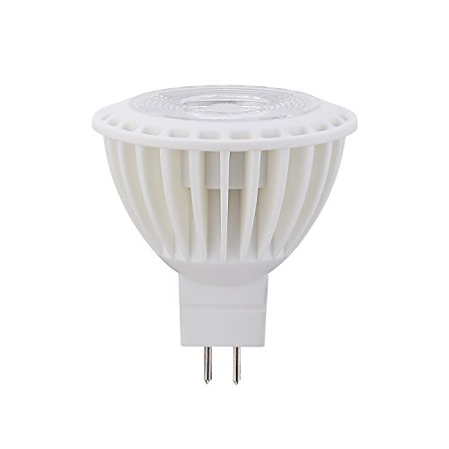 (1 Pack) Not Dimmable LED Flood Light Bulb Day White(5000K) Light Bulbs 5W (45W Equivalent) for Home, 450Lumens AC/DC12Volts GU5.3 Small Base 38 Degree Beam Angle LED Bulb.