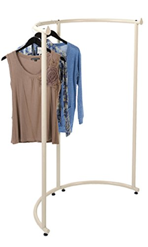 Half Round Clothing Rack - Ivory 37 1/2''W x 55''H by STORE001