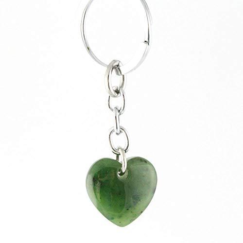 Nephrite Jade Heart Keychain.