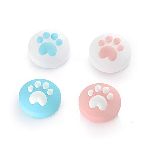Joystick Cap,Cat Claw Analog Thumb Grip Caps Sets Soft Silicone Cover for Nintendo Switch & Lite Joy-Con Controller ThumbStick