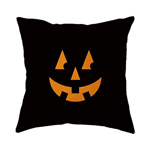 WFeieig_Halloween Black Lumbar Pillow Covers Cotton Linen Decorative Throw Pillow Covers Inch for Sofa Couch Decoration]()