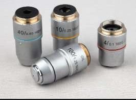 UNICO 100X Din Plan Objective N.a. 1.25, Retractable Front Lens 50X Din Plan Objective B6-2304 by Unico