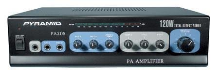 Pyramid PA205 120 Watt Microphone PA Amplifier w\70V Output