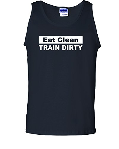 Men's Eat Clean Train Dirty. T-Shirt-Black-2X
