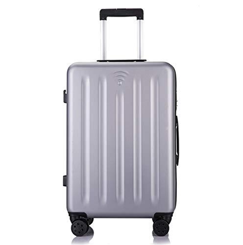 ShiMin 24インチスーツケーストロリーケースユニバーサルホイールラゲッジスクラッチ耐性 (Color : シルバー) B07PRWDNLN シルバー