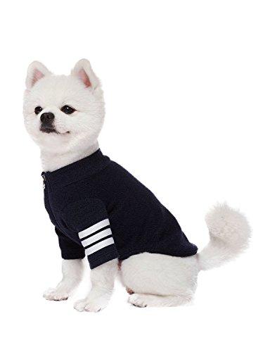 REGNA X Dog Clothes small dog warm winter windproof jacket Dog Coat navy (Pomeranian Jacket)