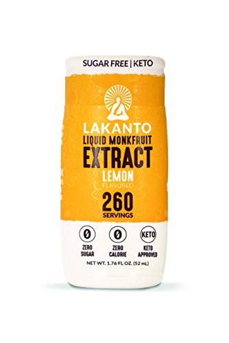 Price comparison product image Lakanto Liquid Monkfruit Sweetener / Zero Calories / Lemon Flavor (1.85 oz / 1.76 fl oz)