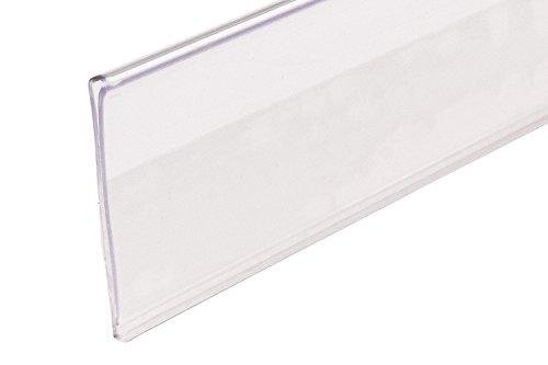 Adhesive 200 Self (FFR Merchandising 4400558509 DSE-200 Economy Self-Adhesive Data Strip Label Holder, 1 1/4
