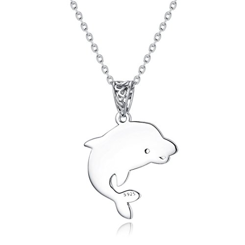 Fine Jewelry Sterling Silver Elegant Animal Charm Pendant Necklace, 18 inches by SILVERLUXY (Image #1)