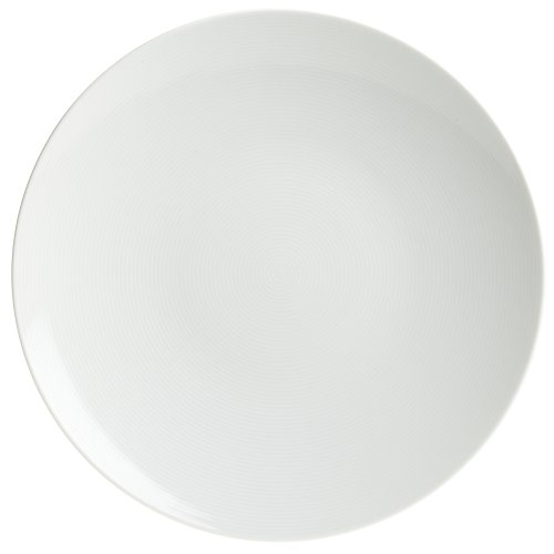 Rosenthal Thomas Loft White Dinner Plate / Modern Dinnerware / Porcelain / Unique Design / Concentric Lines / 11 Inch