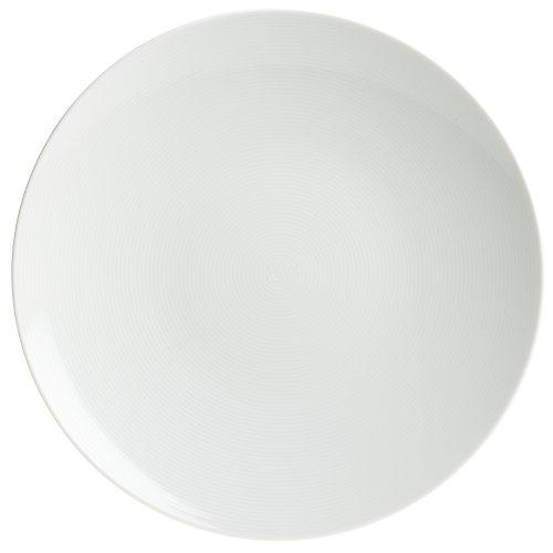 Rosenthal Thomas Loft White Dinner Plate / Modern Dinnerware / Porcelain / Unique Design / Concentric Lines / 11 Inch