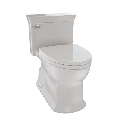 TOTO MS964214CEFG#12 Eco Soiree Elongated One Piece Toilet with Chrome Plated Trip Lever & Sanagloss, Sedona Beige ()