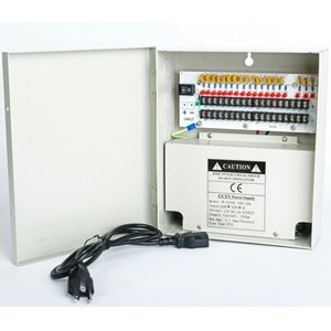 18 Channels 12V DC Regulated Distributed Power Supply panel individually fused 10 AMP Total Output, 1.1 AMP Output per Channel plus PTC Reset-able Fuse ()