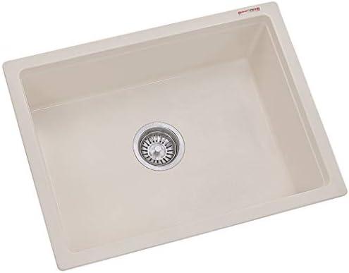 Sincore Quartz Acrylic Kitchen Sink Cream 24 X 18 X 8 Inches Amazon In Home Improvement