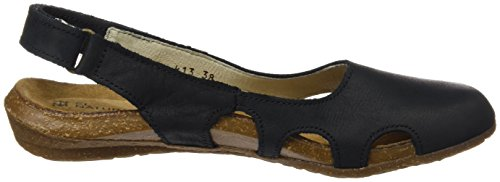 Donna Black Closed Pleasant Wakataua Naturalista Nero N413 El Toe Sandali aCTqTn