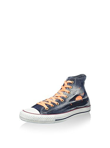 Converse Zapatillas abotinadas All Star Hi Denim Azul Marino / Naranja EU 38 (US 5.5)
