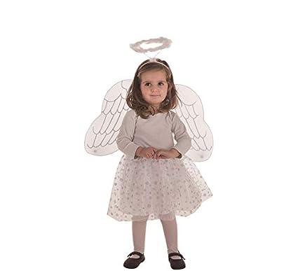 Creaciones Llopis Disfraz de Ángel para niña: Amazon.es ...