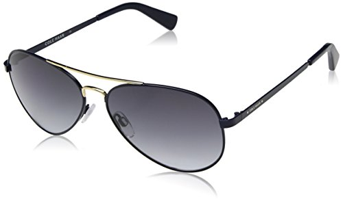 Cole Haan Men's Ch6007 Metal Aviator Sunglasses, Navy, 58 - Cole Sunglasses Haan Aviator