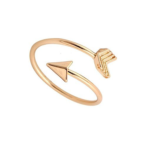 Arrow Ring (Gold) Graduation Ring, Graduate Gift, Inspirational Ring, Journey, Nautical Ring, Travel Ring Toe Ring (brass-plated-gold) Brass Plated Ring