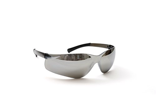 Clear Silver Mirror Lens (CJ Safety Value Safety Glasses Anti-Scratch Lens - Pack of 12 (Silver Mirror))