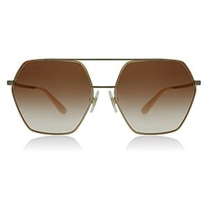 Dolce & Gabbana Women's Metal Woman Square Sunglasses, Pink Gold, 59.1 mm