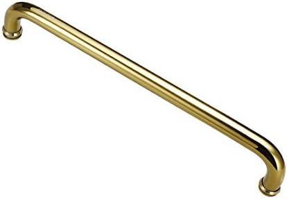1 inch diameter 17.3 inch Stainless steel hole center Titanized shower door handle