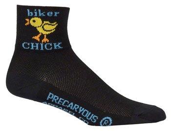 SockGuy, Women's Cycling Sock, Biker Chick, 3 inch (Best Bike For Big Guys)
