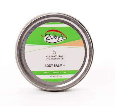 (Anti- Chaffing Sports Wax Created by Ironman Champ | Ruby's Lube | All Natural and Made in USA | Water and Sweat Resistant | Blister Prevention | Formulated by a 7 Time Ironman Winner - 4 oz)