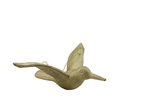 - d茅copatch Mache Hanging Bird, 22 x 24 x 9.5 cm, Brown