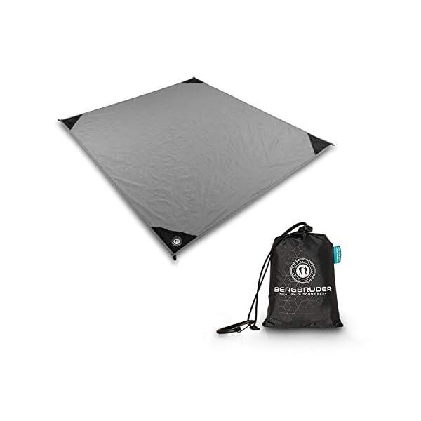 31D9fk3y WL BERGBRUDER Nylon Picknickdecke im Hosentaschenformat - Wasserdicht, Ultraleicht & kompakt - Ground Sheet, Pocket Blanket…