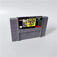 Game card - Game Cartridge 16 Bit SNES , Game Double Dragon V The Shadow Falls - Action Game Card US Version English Language