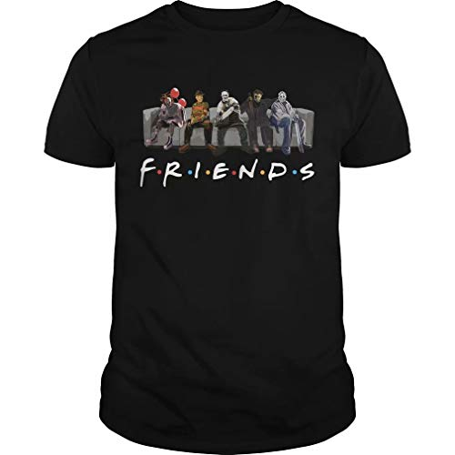 Yuliana Fri-Ends Film Style Gift Tshirt- Best Horror Characters Halloween Tee Black ()