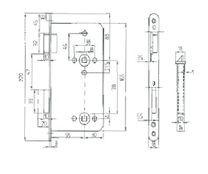 DDR Einsteckschlo/ß f/ür Zimmert/üren WC-Bad 78 TGL Rechts, WC 78