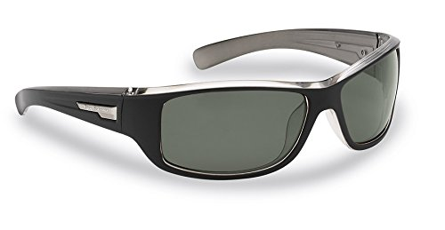 Flying Fisherman Helm Polarized Sunglasses, Black-Crystal Gunmetal Frame, Smoke - Sunglasses Angler
