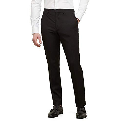 Kenneth Cole REACTION Men's Techni-Cole Stretch Slim Fit Suit Separate (Blazer, Pant, and Vest), Black, 36X34