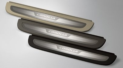 TOYOTA Genuine Accessories PT922-02080-11 Door Sill Enhancement for Select Corolla Models
