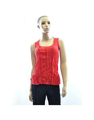 Aller Simplement - Parte superior de algodón rojo amplia correas V3 Rojo