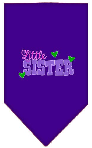 (Mirage Pet Products Little Sister Screen Print Bandana Purple Large)