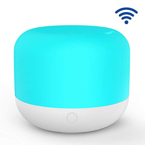 Yeshow Alexa Compatible Smart WiFi Diffuser and Rest Night Light, Color and Mist Can Be Controlled Separately by Voice and App(iso&Andiron) (300ML) (Under Pending for Google Assistant)