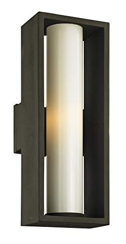 (Troy Lighting B6493 Mondrian Outdoor Wall Sconce, Large, Textured Bronze)