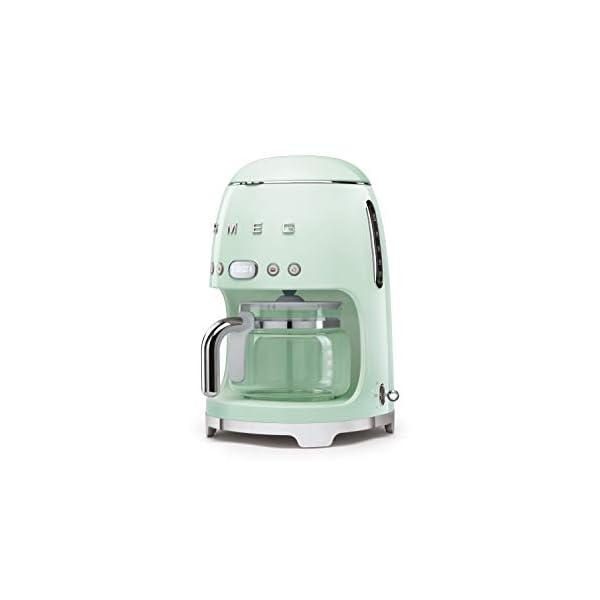 Smeg 50's Retro Style Aesthetic Drip Filter Coffee Machine, 10 cups, Pastel Green 2