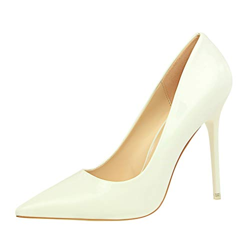 (Sam Carle Women Pumps, Sexy Patent Leather High Thin Heel Pointed Toe Nightclub Shoes)