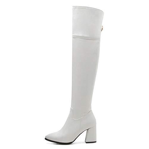 HOESCZS 2019 Frauen Über Die Kniehohe Stiefel Elegante Schwarze Mode Frauen Schuhe Plattform Reißverschluss Winter Frauen Stiefel Große Größe 34-43