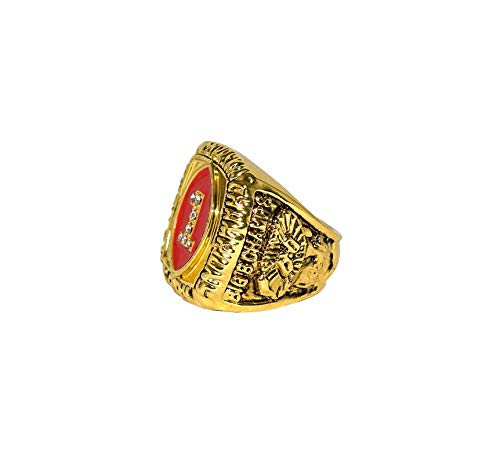 UNIVERSITY OF NEBRASKA CORNHUSKERS (Bryant) 1994 BCS NATIONAL CHAMPIONS (Big 8 Champs) Vintage Rare Collectible Replica Gold Football Championship Ring with Cherrywood Display Box
