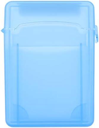 2.5インチ ハードディスクドライブ保護ボックス HDD SSD収納ケース 透明プラスチック製 - 青色